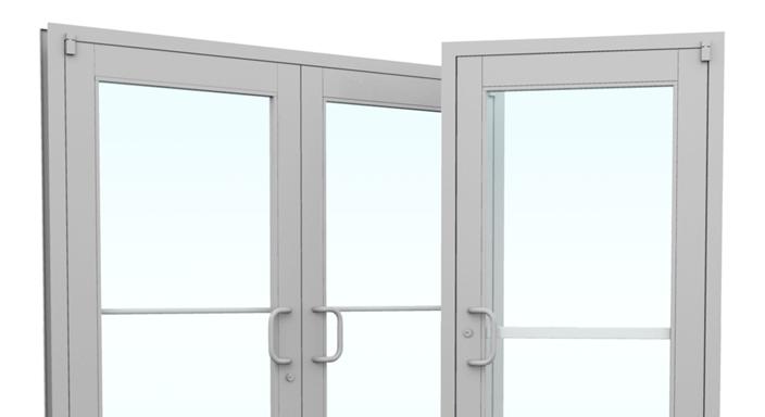 Commercial Aluminum Glass Storefront Doors