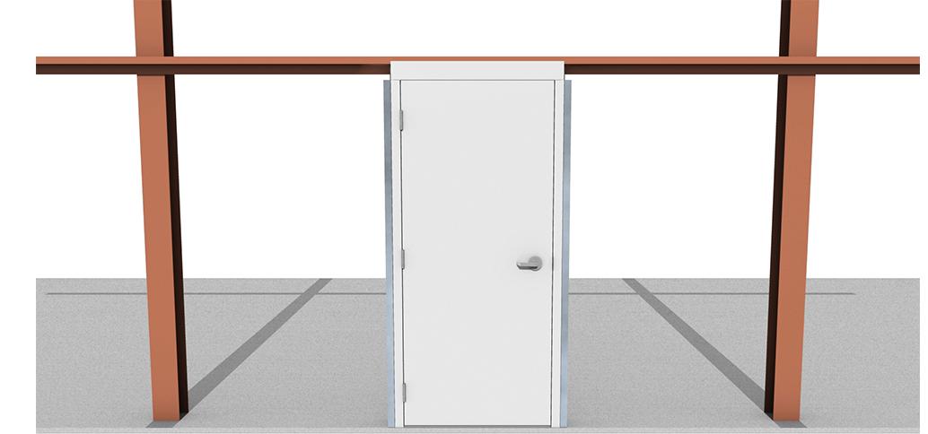 Metal Building Doors Pre Assembled Commercial Steel Walk Doors