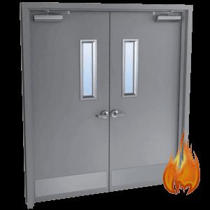 double steel door fire rated