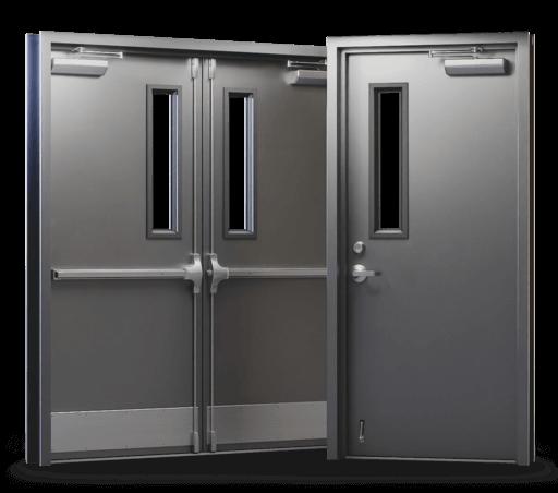 double steel door set single and double