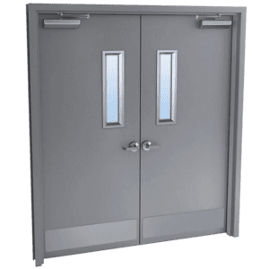 double steel doors with glass kits