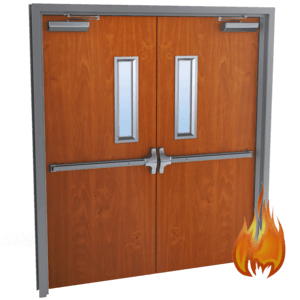double wood doors fire rated