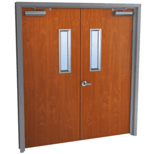 double wood doors with glass kits