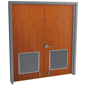 double wood doors with louver kits