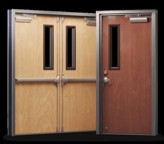 prefinished wood doors single and double