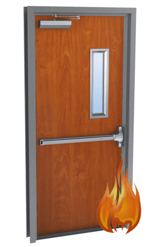 single fire rated wood doors
