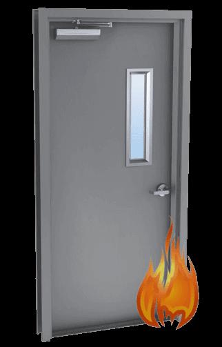 single metal door fire rated