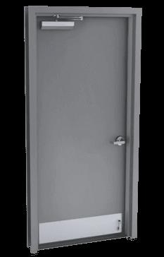 single steel door flush