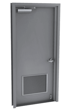 single steel door with louver
