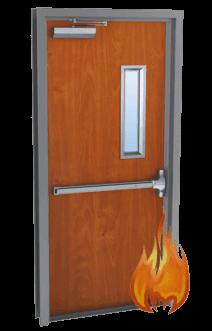 single wood door fire rated