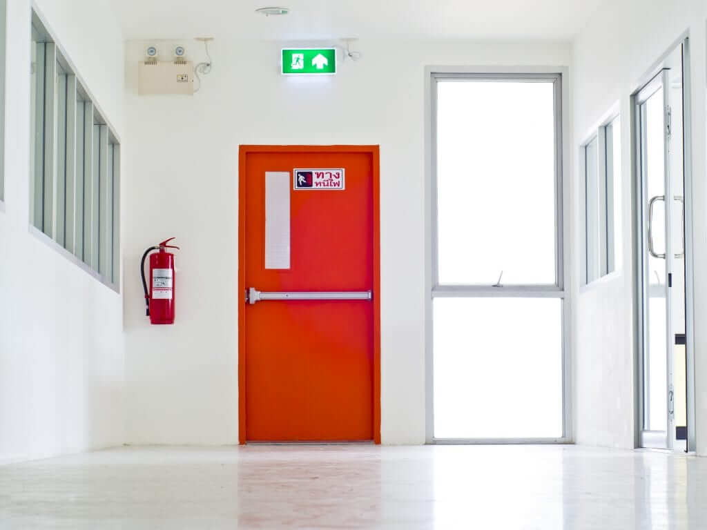 exit door red