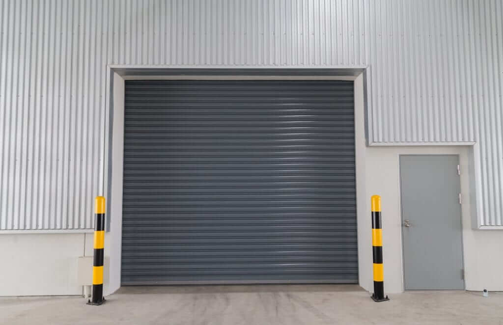 Shutter,Door,And,Siding,Wall,Of,Building,And,Warehouse.