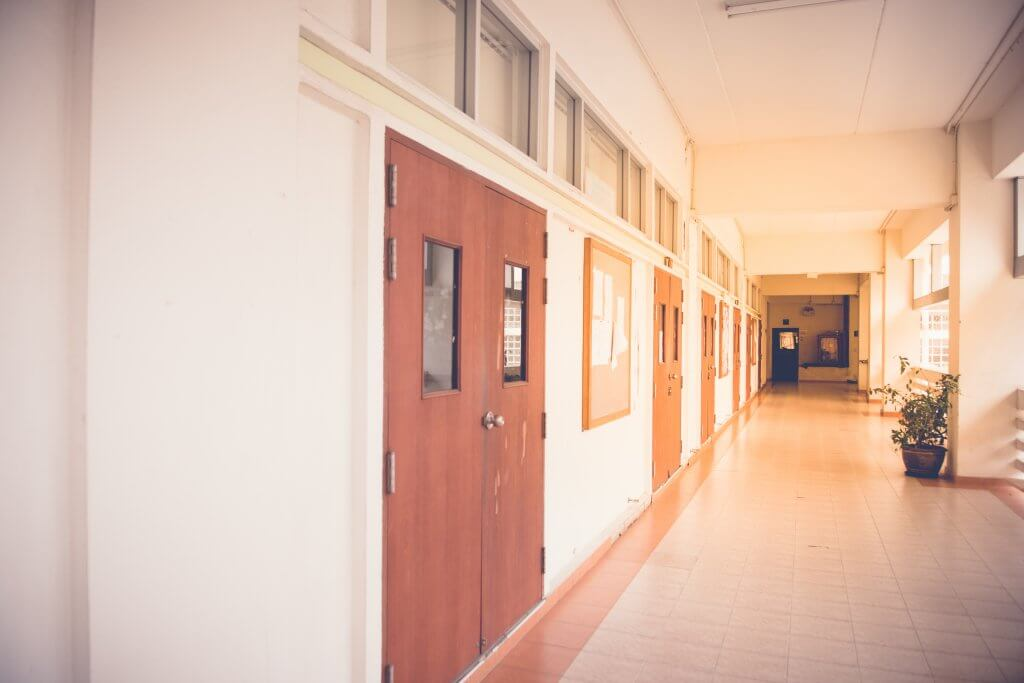 Inside,The,School,Building,With,Sunlight