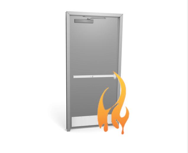 20 Minute Fire Rated Door : Metal single door fire rated up to hr rating