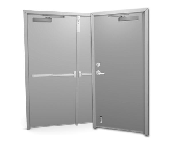 single or double metal or steel door