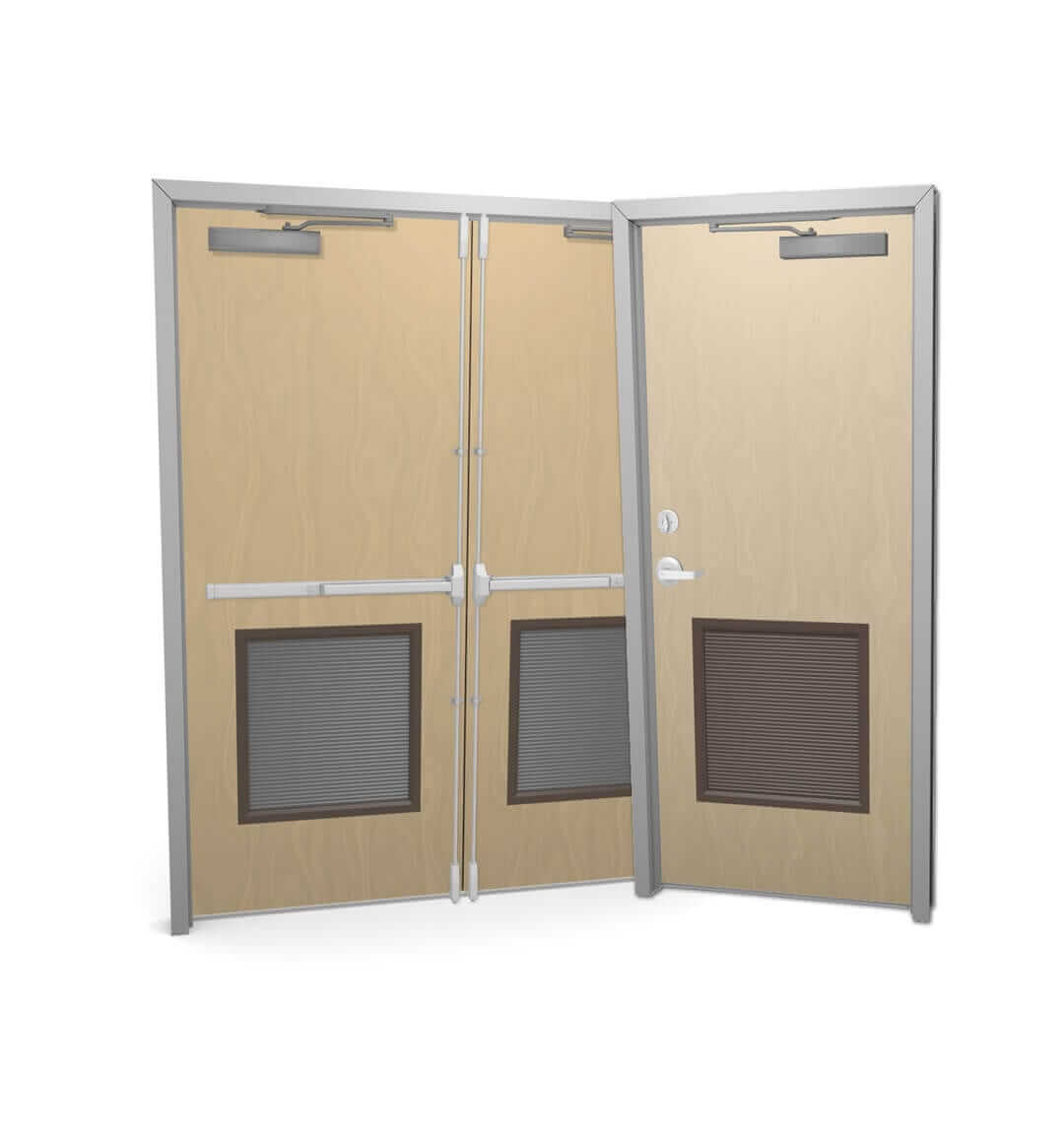 commercial exterior double doors. Single And Double Commercial Wood Doors With Louver Exterior I